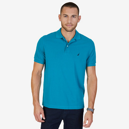 Solid Pique Classic Fit Deck Polo Shirt - Hunter Green