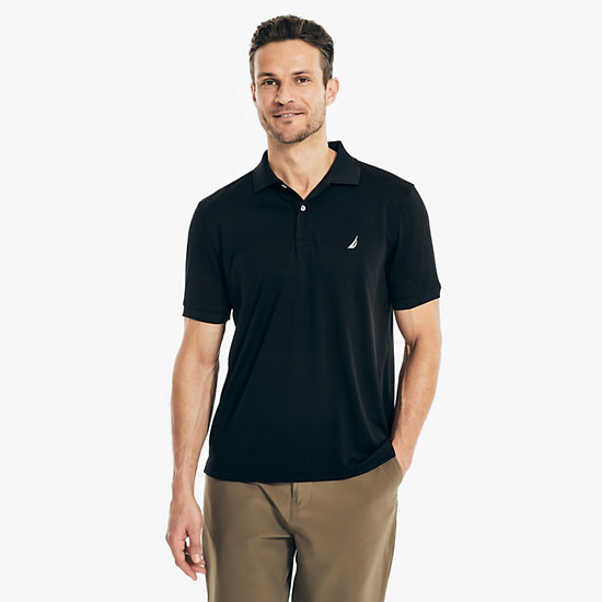 Tech Jersey Classic Fit Polo Shirt - True Black