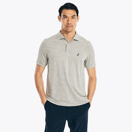 Short Sleeve Classic Fit Performance Polo - Grey Heather