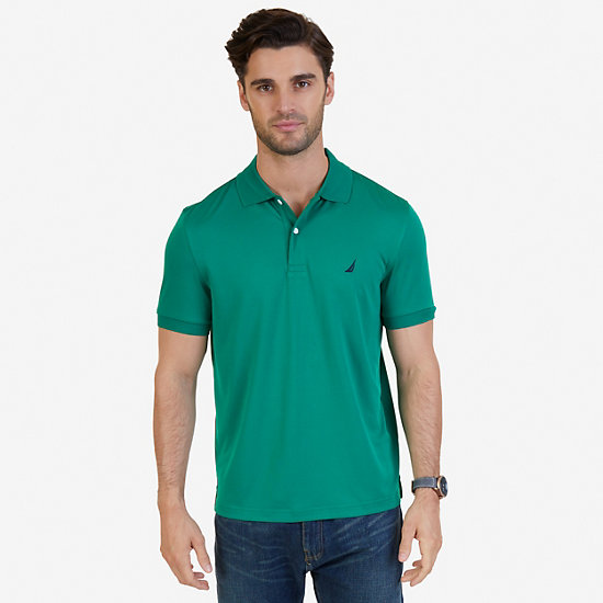 Tech Jersey Classic Fit Polo Shirt - Verdant Green