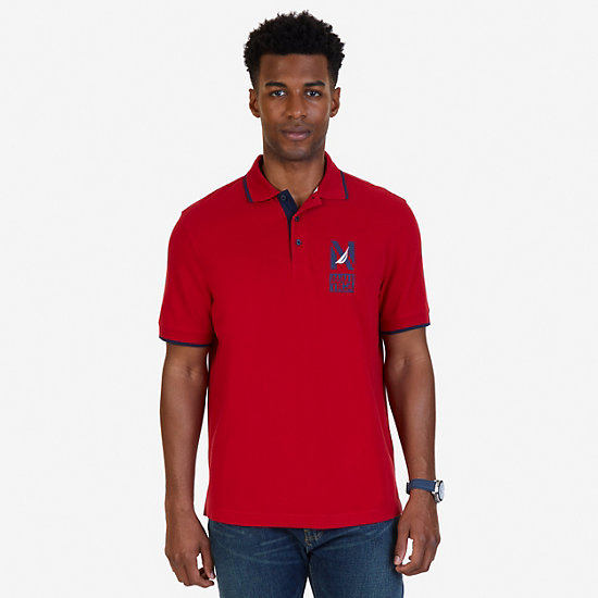 Classic Fit Signature Polo Shirt - Nautica Red