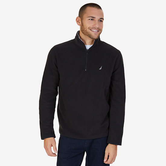 Quarter Zip Nautex Fleece - True Black