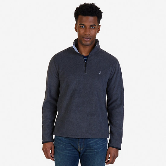Quarter-Zip Nautex Fleece - Charcoal Hthr