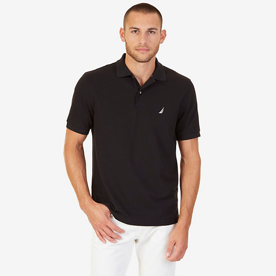 Classic Fit Performance Stretch Polo Shirt - True Black