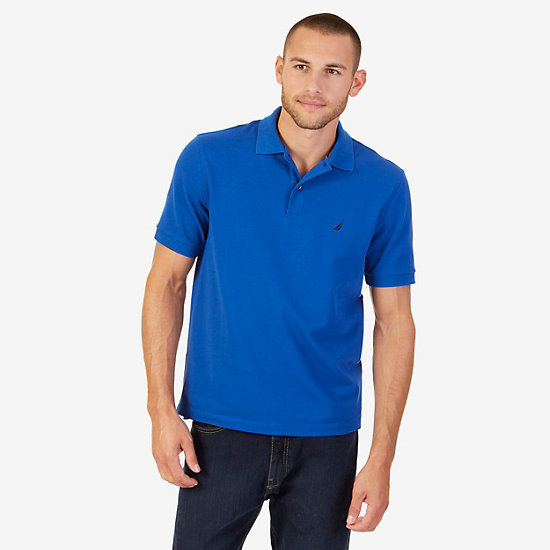 Classic Fit Performance Stretch Polo Shirt - J Navy