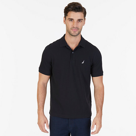Classic Fit Cooling Performance Polo Shirt - True Black