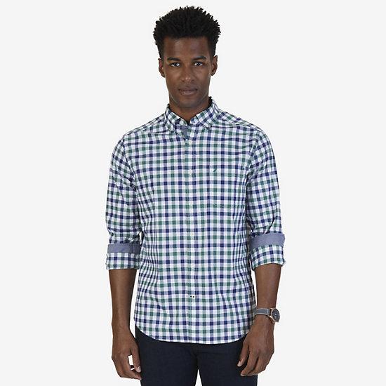 Big & Tall Classic Fit Stretch Poplin Shirt - Army Green