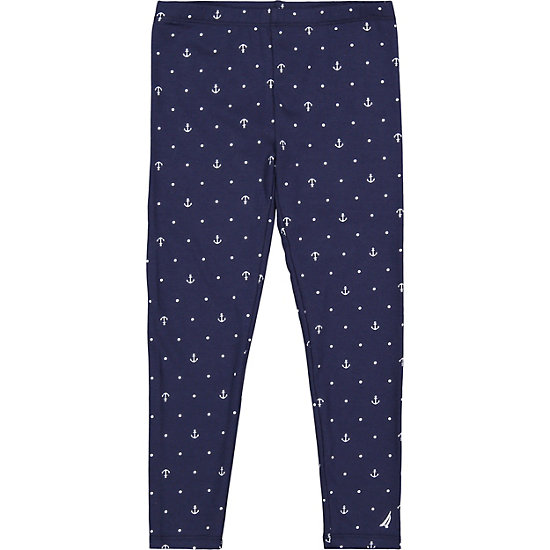 Toddler Girls' Printed Legging (2T-3T) - Navy
