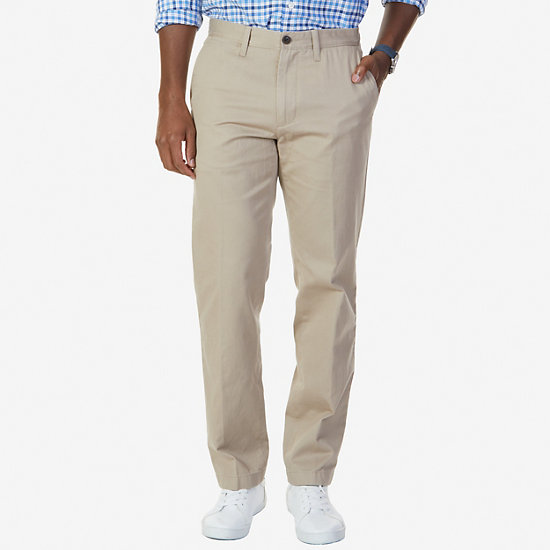 Flat Front Classic Fit Pants - True Khaki