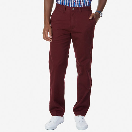 Flat Front Classic Fit Pants - Royal Burgundy