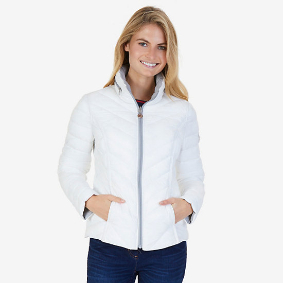 Reversible Down Puffer Jacket - Bright White