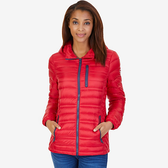 Down Puffer Jacket - Tomales Red