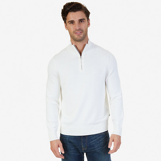 Quarter-Zip Sweater - Marshmallow