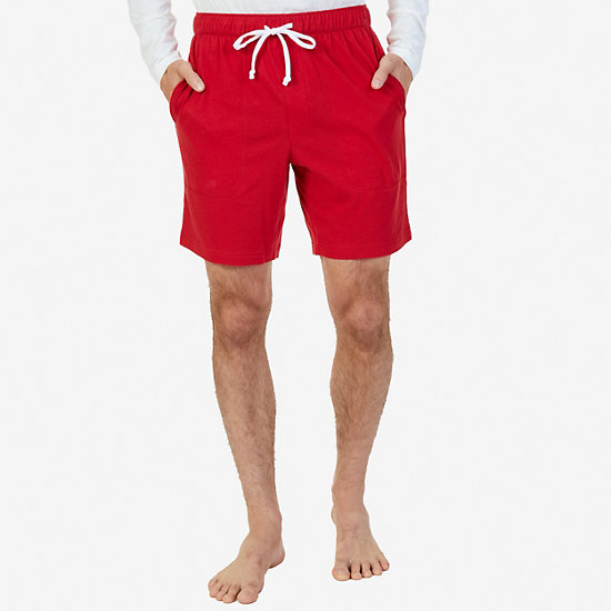 Cotton Jersey Sleep Short - Nautica Red