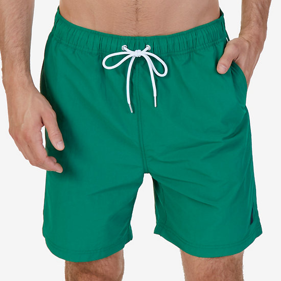 Quick Dry Nylon Swim Trunk - Verdant Green