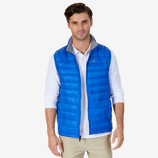Reversible Down Vest - Bright Cobalt
