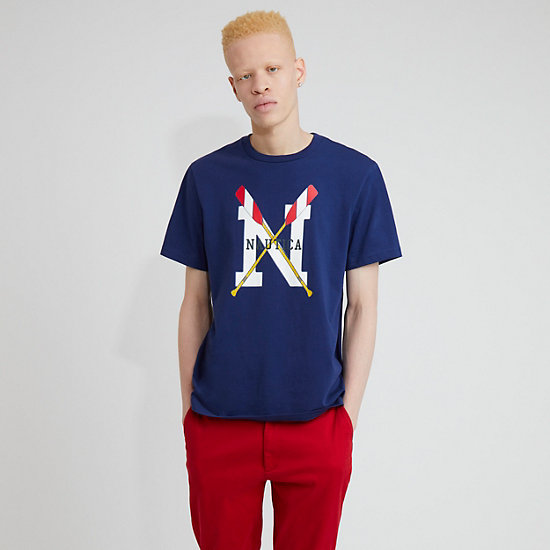 The Lil Yachty Collection by Nautica Crossed Oars Graphic T-Shirt - J Navy