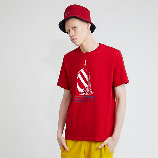 The Lil Yachty Collection by Nautica Sailboat Graphic T-Shirt - Nautica Red