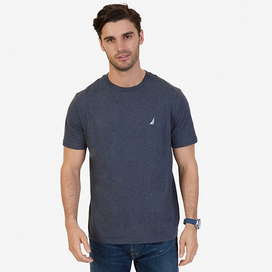Classic Crew Tee - Charcoal Hthr