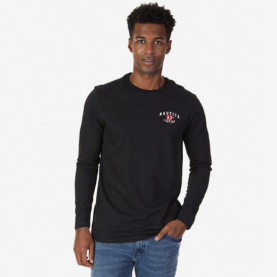 83rd Chapter Graphic Long Sleeve T-Shirt,True Black,large