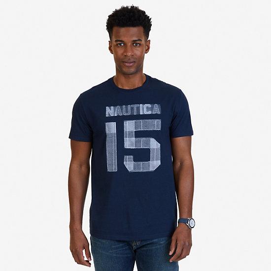 Nautica 15 Graphic T-Shirt,Navy,large