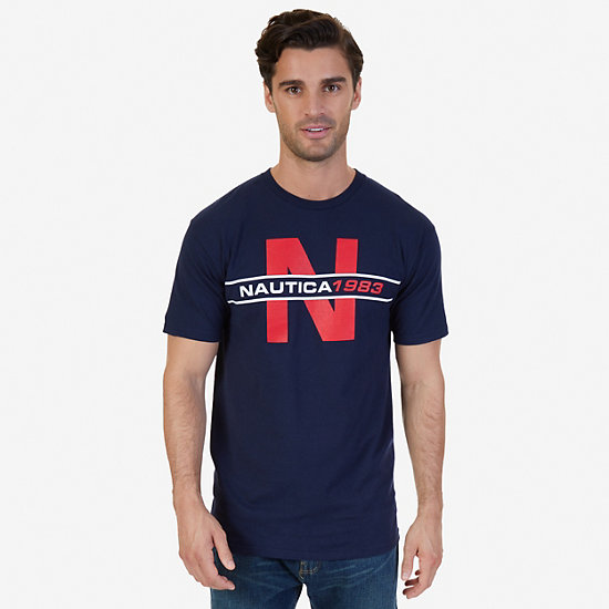 N 1983 Graphic T-Shirt - Navy