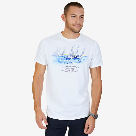 Seafarer's Supply Graphic T-Shirt,Bright White,large