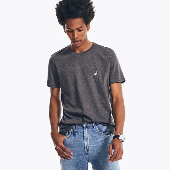 J-Class Crewneck Short Sleeve T-Shirt - Charcoal Hthr