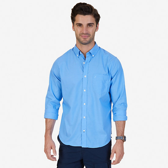 Solid Classic Fit Long Sleeve Button Down - Deep Sea