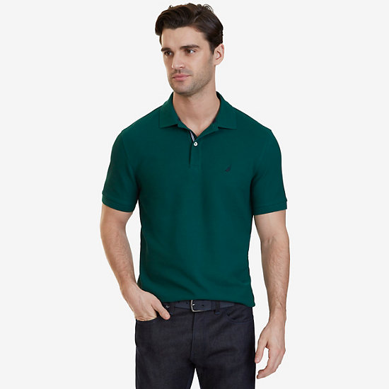 Nautica Big & Tall Performance Deck Polo Shirt,Cosmic Fern,large