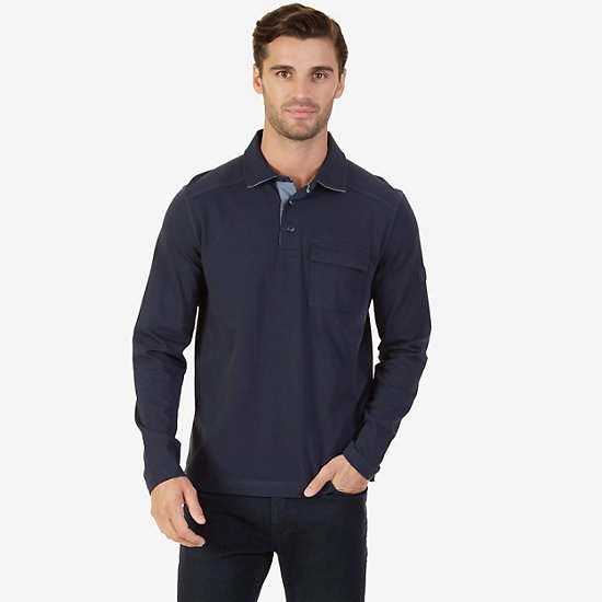 Big & Tall Classic Fit Long Sleeve Button Down - True Navy