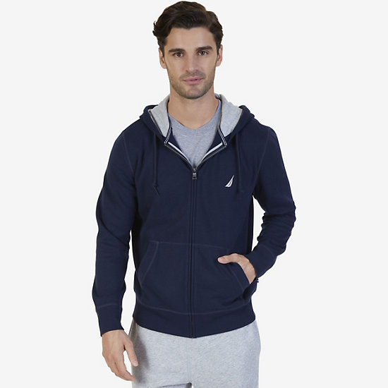 Big & Tall Full-Zip Classic Hoodie - Navy