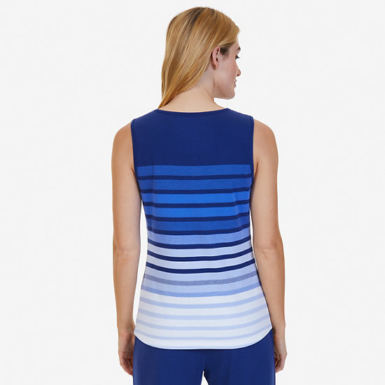 Ombré Stripe Sleep Tank,Aquamarine,large