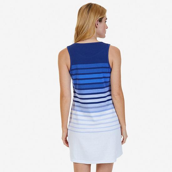 Ombré Stripe Sleep Shirt,Aquamarine,large