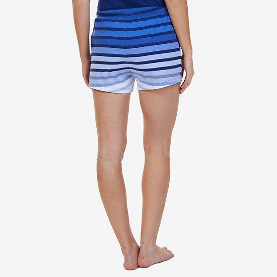 Ombré Stripe Sleep Short,Aquamarine,large