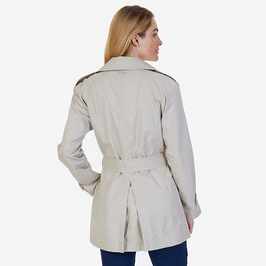 Double-Breasted Trench Coat with Belt,Sandcove,large