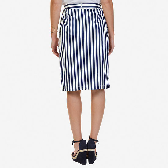 Striped Pencil Skirt,Deep Sea,large