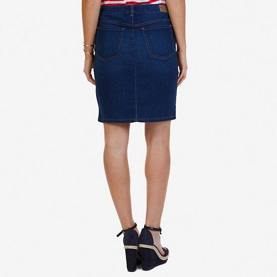 Denim Skirt,Atlantic Light Wash Outle,large