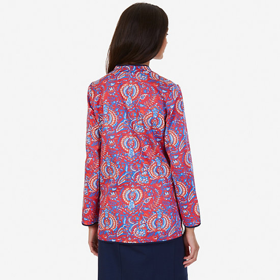 Paisley Tunic,Tomales Red,large