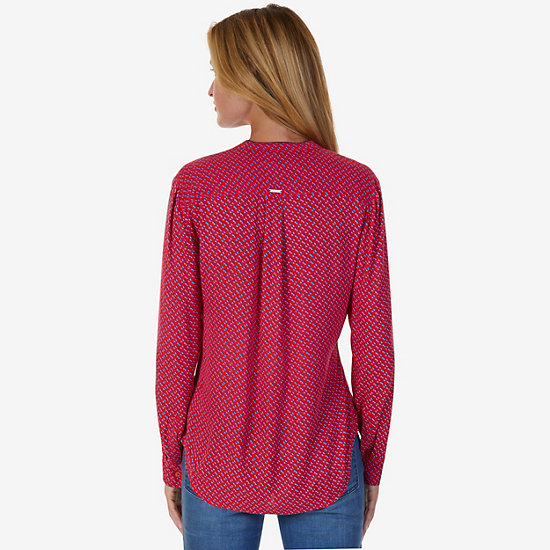 Diamond Motif Classic Fit Button Down,Tomales Red,large
