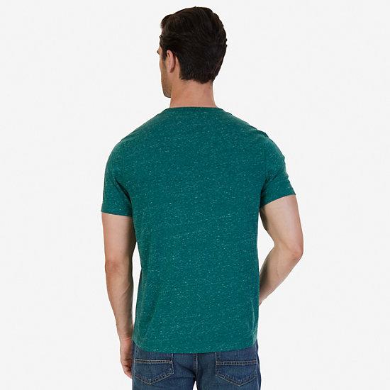 Slim Fit Henley Shirt,Cosmic Fern,large