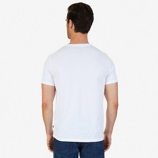 International Crew Race Graphic T-Shirt,Bright White,large