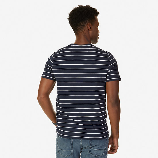 Striped T-Shirt,Navy,large