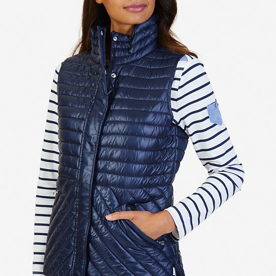 Quilted Vest,Deep Sea,large