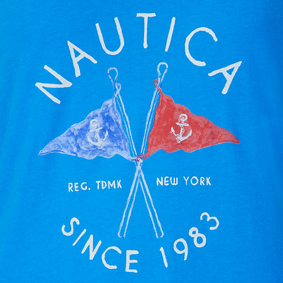 Flag Graphic Tee,Naval Blue,large