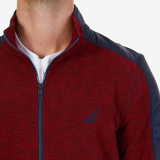 Zip-Front Fleece,Nautica Red,large
