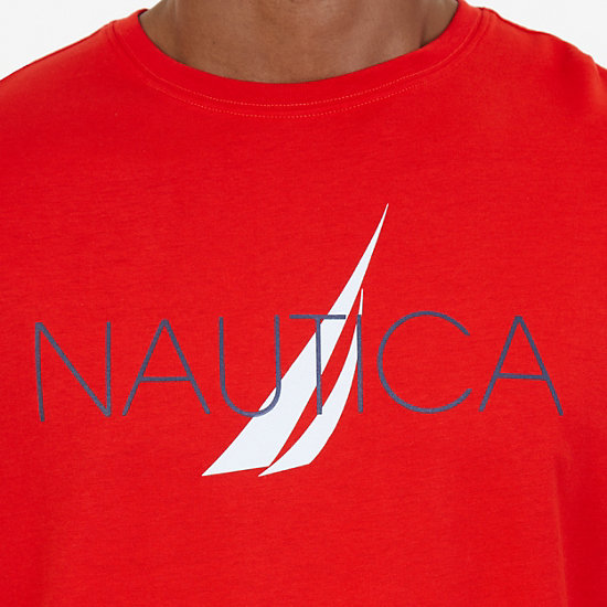 J-Class Sleep T-Shirt,Sunrise Red,large