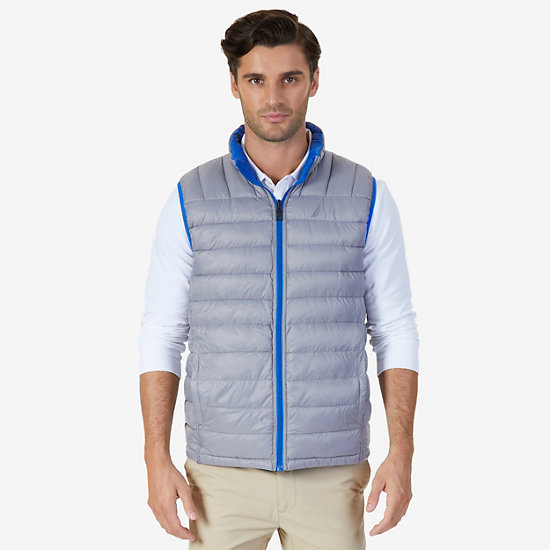 Reversible Down Vest,Bright Cobalt,large