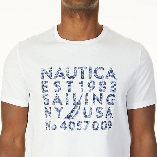 Est 1983 Graphic T-Shirt,Bright White,large