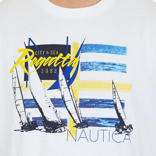 Regatta Graphic T-Shirt,Bright White,large